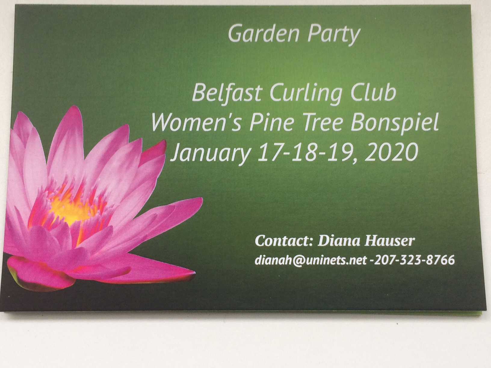 2020 Pine Tree Bonspiel
